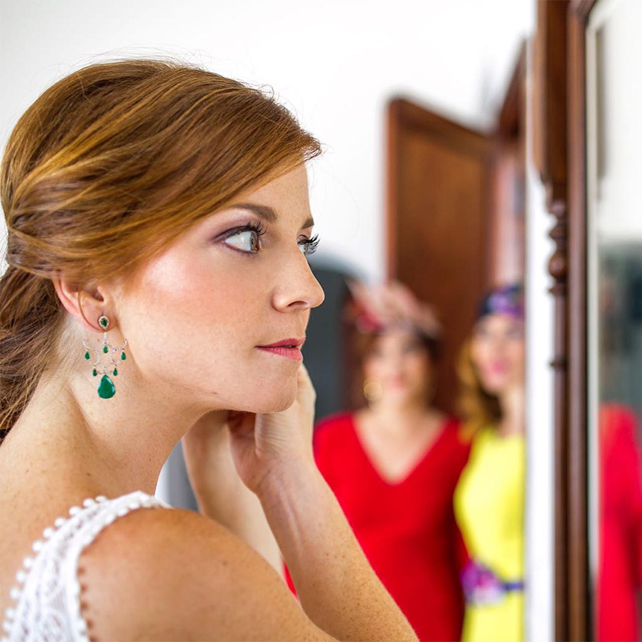 Pendientes de novia a medida